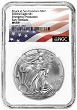 2020 (s) Emergency Production Silver Eagle NGC MS69 - Early Releases - Flag Label