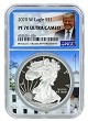2020 W 1oz Silver Eagle Proof NGC PF70 Ultra Cameo - White House Core - Trump Label