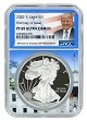 2020 S 1oz Silver Eagle Proof NGC PF69 Ultra Cameo - First Day Issue - Trump White House Core
