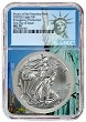 2020 (s) Emergency Production Silver Eagle NGC MS70 - First Day Issue - Statue Of Liberty Core