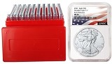 2021 1oz Silver American Eagle NGC MS69 - Early Releases - Flag Label- 10 Pack W/Case
