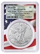 2021 (s) Emergency Production Silver Eagle PCGS MS70 - First Strike - Flag Frame